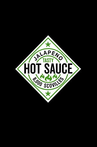 Hot Sauce Jalapeño Funny Family Halloween Costume Notebook 114 Pages 6''x9'' Blank lined