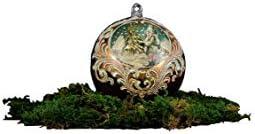 Vetro da Amare - Bola de Navidad de cristal de Murano, Feliz de Navidad.
