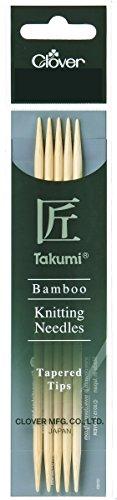 Clover 3812 Nadelspiel Bambus Takumi 16 cm, 2,25 mm