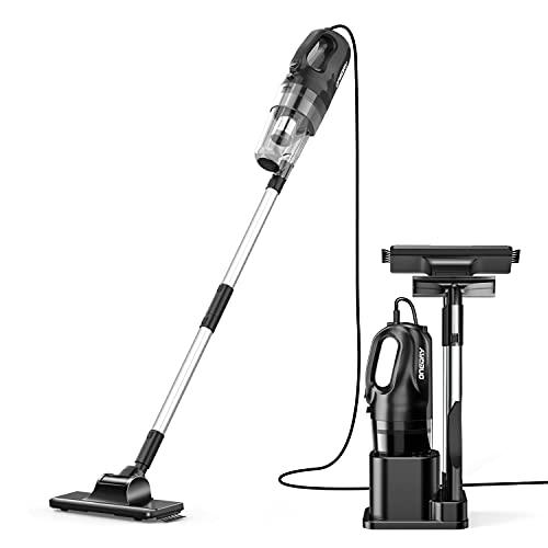 oneday Aspiradora vertical sin bolsa, aspiradora de mano 6 en 1, filtro HEPA, cable de 10 m, aspiradora eléctrica de 15 Kpa con soporte para el hogar, la cocina, la alfombra, el cabello, el automóvil