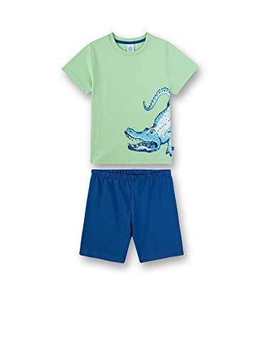 Sanetta Jungen kurzer Pyjama Zweiteiliger Schlafanzug, Grün (Lime 40004), (Herstellergröße: 116)