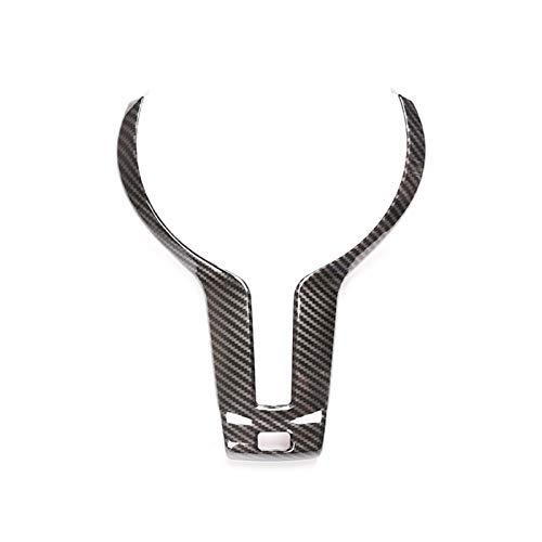 GXDD Carbon-Faser-Lenkrad-Trim Fit for BMW F20 F22 F21 F30 F32 F33 F36 F06 F12 F13 F15 X5 X6 F16 M-Sport Autozubehör (Color Name : Carbon Fiber)