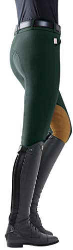 THE TAILORED SPORTSMAN Vintage Patch Mid-Rise Breech, Size 28, Black Forest/Tan