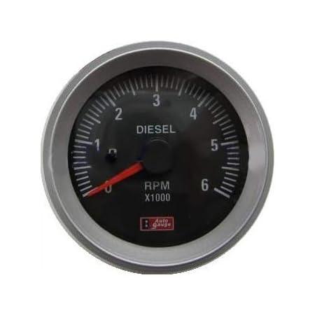 Drehzahlmesser Für Diesel Anzeige 52mm Für Lichtmaschine Zusatzinstrument Zusatzanzeige Instrument Drehzahl U Min Rpm Universal Auto