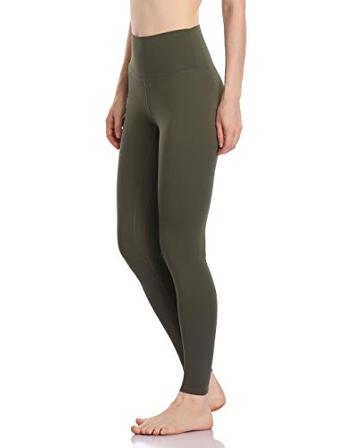 Colorfulkoala Women's Buttery Soft High Waisted Yoga Pants Full-Length Leggings (M, Olive Green)