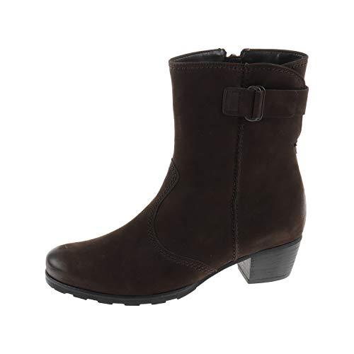 Gabor Damenschuhe Stiefel Stiefelette Ankle Boots Nubuk Oil Moro Braun 7660245 (37.5 EU)