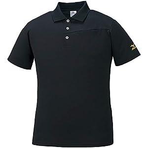 [ミズノ] トレーニングウェア 半袖ポロシャツ 吸汗速乾 K2JA1182 メンズ ブラック XL