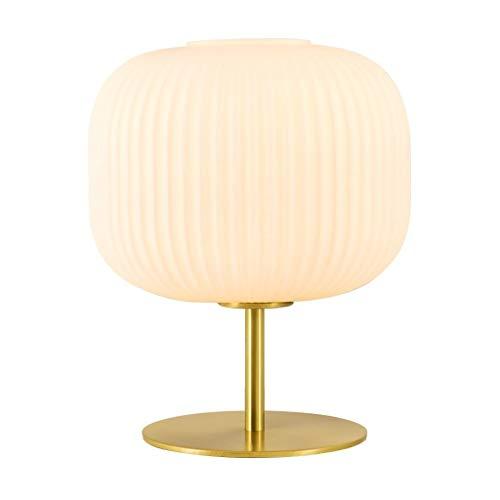 Lámparas de mesa Sencilla y cálida tabla creativa de la lámpara pantalla de cristal lámpara de cabecera, exquisita decoración Lámparas for sala de estar dormitorio Cafe Etc. Lámparas de escritorio