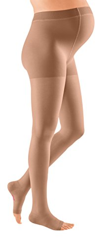 mediven plus, 30-40 mmHg, Compression Maternity Pantyhose, Open Toe