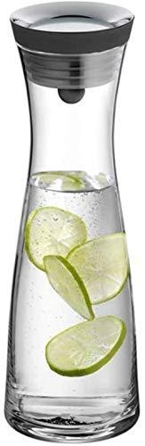 GAOYINMEI Tetera Tetera de Cristal de la Taza del jarro con Tapa de Hielo Vaso de Agua Reutilizable Ideal for Botellas de café Café Helado de Leche y Frutas (Size : 10×32.5×8cm)