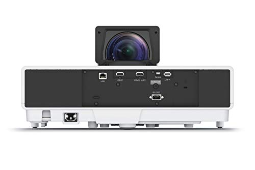 Epson EH-LS500W 3LCD, 4K PRO-UHD, Laser, Ultra Short Throw Super Resolution, 4000 Lumens, 130 Inch Display, Home Cinema Projector - White