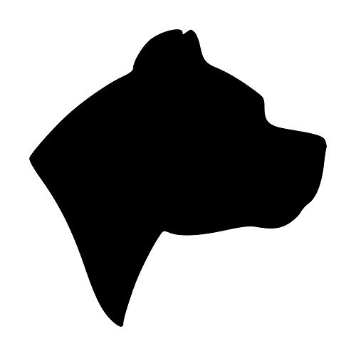 Minglewood Trading Gold - Set of 2 Pit Bull Head 2.5' x 2.5' Vinyl Decal Stickers - Dog Profile Silhouette Pitbull Pittie Terrier Amstaff - 20 Color Options