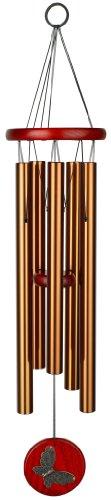 Woodstock Chimes HCBRB Glockenspiel mit Musik, 66 cm, bronzefarben
