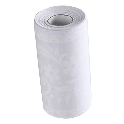 perfk Borde de Papel Tapiz de Encaje Blanco Peel Stick, Borde Decorativo de Techo para El Hogar, para Baño, Sala de Estar, Cocina, 10X1000CM