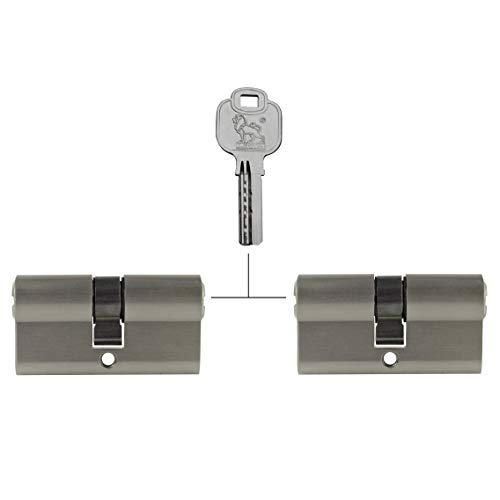 2x Zylinderschloss 80 mm gleichschließend 40x40mm inkl. 10 Schlüssel