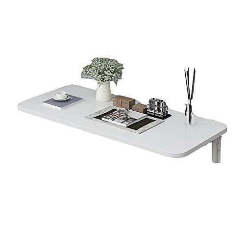 AMDHZ Wall Desk Fold Down Foldable On The Wall Folding Desk Desk Hanging On The Wall Space Saving Health And Environmental Protection Used For Dining Table Kitchen (Color : White, Size : 100x50cm)