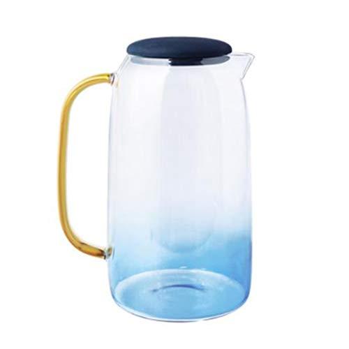 Teteras Pote del té Cristal de Las Hojas Intercambiables de Infuser del té frío Caldera de Cristal Resistente al Calor, a Prueba de explosiones y Fresco Resistente al Calor de l