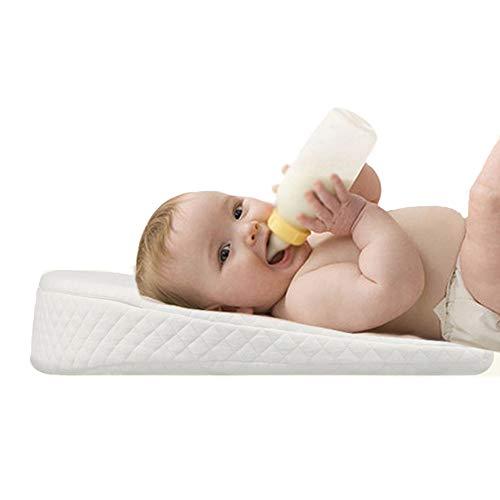 Pillow Almohada para bebé, Almohada de reflujo en Forma de cuña, cuña extraíble Lavable, Almohada antirreflujo, diseño científico a 12 Grados