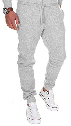 MERISH - Pantaloni da jogging da uomo, in cotone, slim fit, 283 283 grigio M