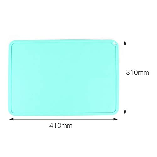 HUANRUOBAIHUO Silicone Slap Mat Blue/Gray 410 * 310mm Clean-up Or Resin Transfer To Protect Work Surface For DLP SLA 3D Printer Accessories 3D Printer Parts (Color : Blue)