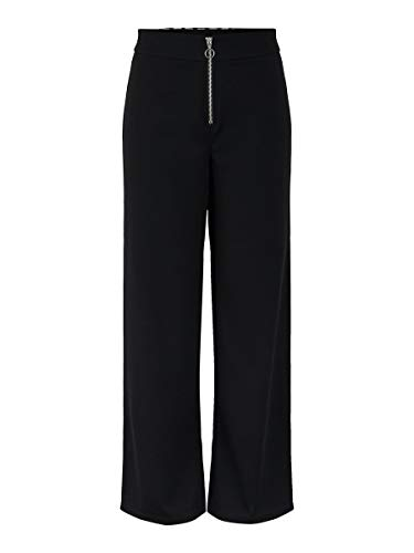 PIECES Damen PCMIYA HW Pants Hose, Black, S