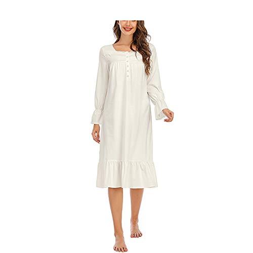 Bata tipo kimono para mujer, camisón de seda, suave, color blanco, talla S