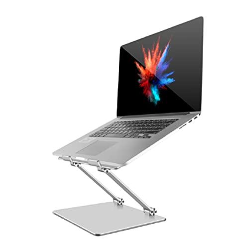 Soporte de Portátil Aluminio Soporte Plegable Ajustable para Todos Los Portátiles10-18 Pulgadas MacBook/Ordenadores Portátiles/DELL/Lenovo,Silver