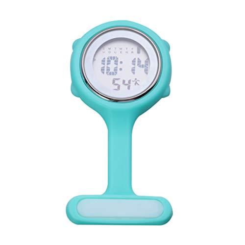 ibasenice Broche de Reloj de Enfermera - Reloj de Bolsillo Digital multifunción Reloj de Enfermera de Silicona con Pin broches de Reloj portátiles médicos Broche médico paramédico