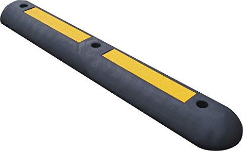 Temka 12260 UN Leitschwelle Gummi, Schwarz/gelb