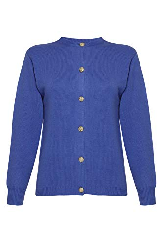 Lona Scott Cashmere Golfer - Cárdigan para Mujer Azul Azul eléctrico X-Large