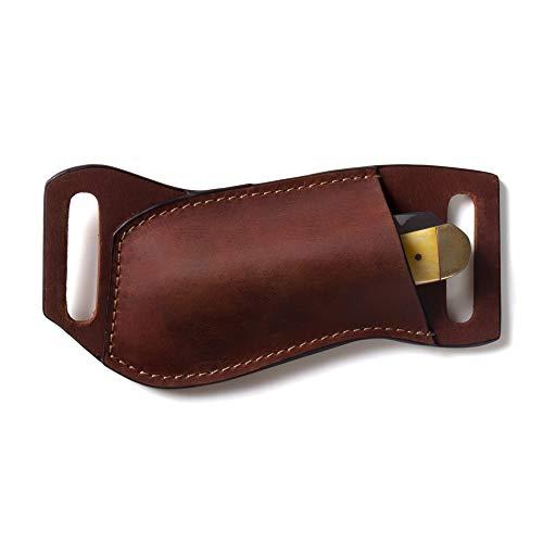 Gentlestache Leather Pocket Knife Sheaths for Belt, Folding...