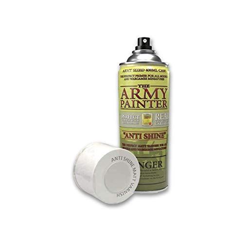 The Army Painter – Colour Primer - Anti Shine Matt Varnish | 400ml | Acryl-Spray | Grundierung | für Modellmalerei