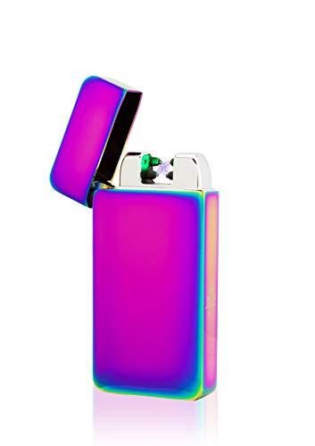 TESLA Lighter TESLA Lighter T10 Lichtbogen-Feuerzeug mit Photosensor, elektronisches USB Feuerzeug, Double-Arc Lighter, wiederaufladbar Schwarz Schwarz