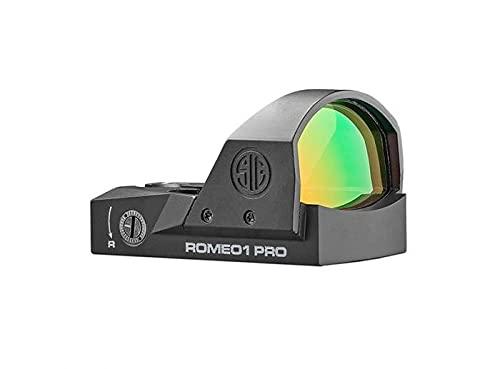 Sig Sauer SOR1P100 Romeo1Pro, 3 Moa 1.0 Moa Adjust, Steel Shroud, Black
