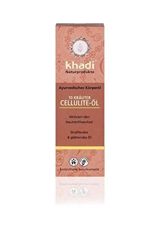 khadi 10 Kräuter Cellulite Körperöl 100ml I Anti-Cellulite-Öl für straffe Haut I Naturkosmetik 100% pflanzlich