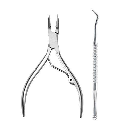 Coupe-ongles en acier inoxydable couteau de pédicure pédicure bouche oblique poignée de dauphin pince-Nail/Nail Picker