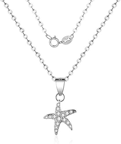 Classic Retro Simple and Generous Fashion Personality Charm Necklace for Men and Women Easy to Match Sterling Silver Starfish Pendant Necklace