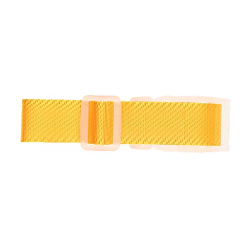 T TOOYFUL Add A Bag Travel Luggage Strap Heavy Duty Quick Connect Buckle - Yellow