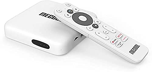 MECOOL KM2 Android TV 10   Google zertifiziert   Bluetooth 5.0   Google Assistance   Integrierte Chromecast   Fernbedienung mit Sprachsteuerung und Direktzugriff auf Youtube   Netflix   Prime Video