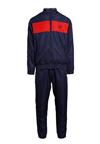 Sergio Tacchini Herren Trainingsanzug Brett Tracksuit, Navy/Red, XXL