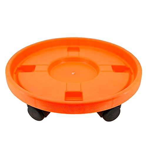 Acan Pamex - Carro Porta bombona de Gas butano Universal 35,3 cm con 4 Ruedas. Plataforma, Soporte, Base Circular con Ruedas Naranja