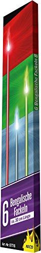Nico 6 Bengalische Fackeln Gesamtlänge ca.30 cm , Brenndauer 40-50 Sek. gemischte Farben