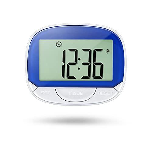 Anself Elektronischer Schrittzähler 3D-Schrittzähler mit Clip für Fitness-Tracker zur Verfolgung von Schritten/Gehentfernung/Kalorien Tragbarer Fitness Tracker mit Uhrfunktion
