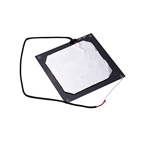 Heating Bed, 24V 3D Printer Heated Bed Hotbed Heating Platform Aluminum Plate 310 * 310mm with Hotbed Wire Insulation Connton Compatible with CR-10/CR-10S TEVO Tornado 3D Printer (Size : 24V)