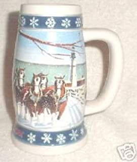 Budweiser 1995 Lighting The Way Home Holiday Stein