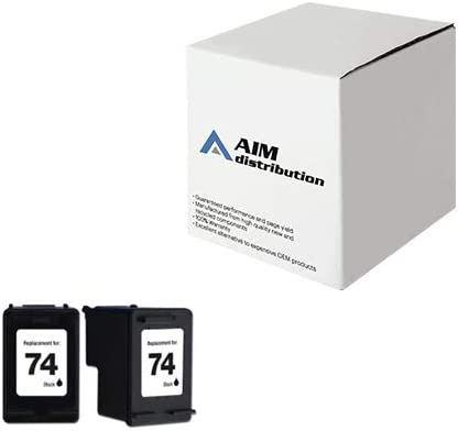AIM Compatible Replacement for HP NO. 74 Black Inkjet (2/PK-200 Page Yield) (CZ069FN) - Generic