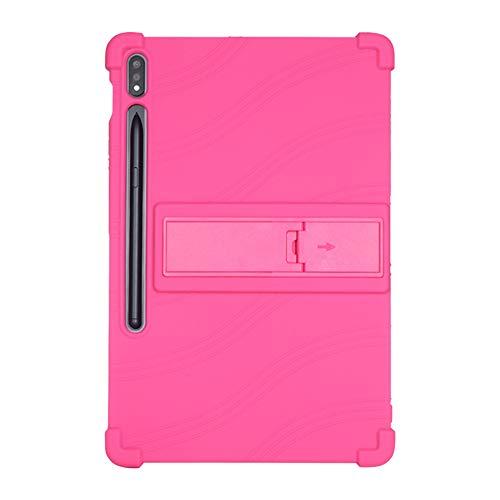 Runxingfu Impacto Resistente Silicona Suave Soporte Bolsa Ligero Caucho Fundas Blandas Protector para Samsung Galaxy Tab S7 T870/T875 11 Pulgadas Tableta