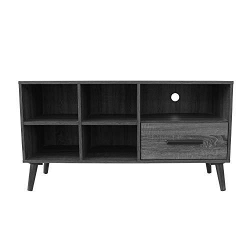 Christopher Knight Home Marceau Mid-Century Modern Faux Wood Overlay TV Stand, Grey Oak