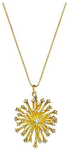NC110 Collar con Colgante Pendientes Conjunto de Anillos Niña Mujer Accesorios de joyería Elegante Caja de Regalo Noble YUAHJIGE