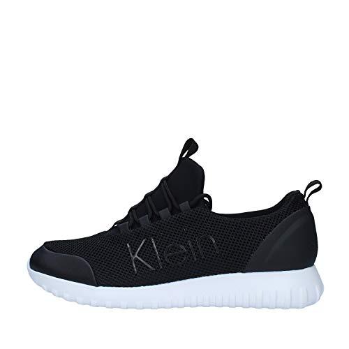 Calvin Klein Zapatillas para hombre YM0YM00085 de piel negra modelo casual un...